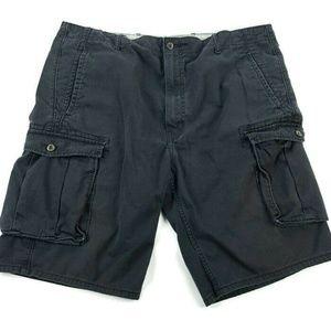 Levis Mens 40 Black Cargo Shorts Cotton